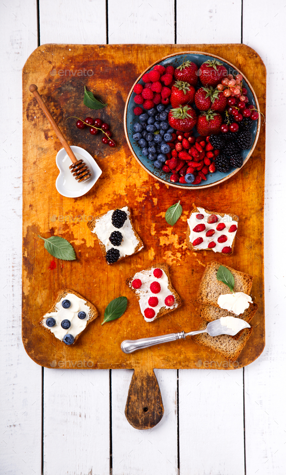 Various Fresh Summer Berries.Food or Healthy diet concept. - Stock Photo - Images