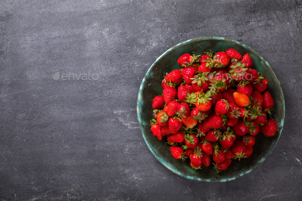 Fresh strawberry .Food or Healthy diet concept. - Stock Photo - Images