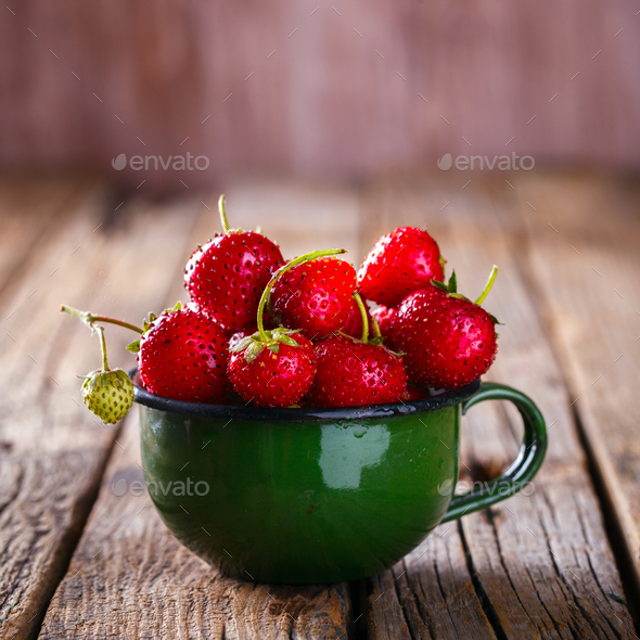 Fresh Strawberries.ood or Healthy diet concept.Vegetarian - Stock Photo - Images