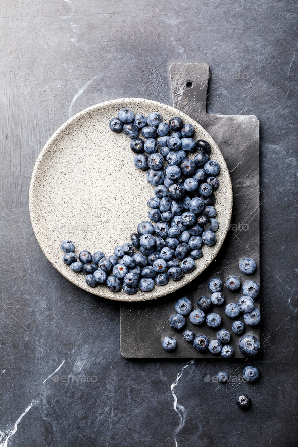 Fresh Blueberries .Concept  Healthy Food. Diet Nutrition . - Stock Photo - Images