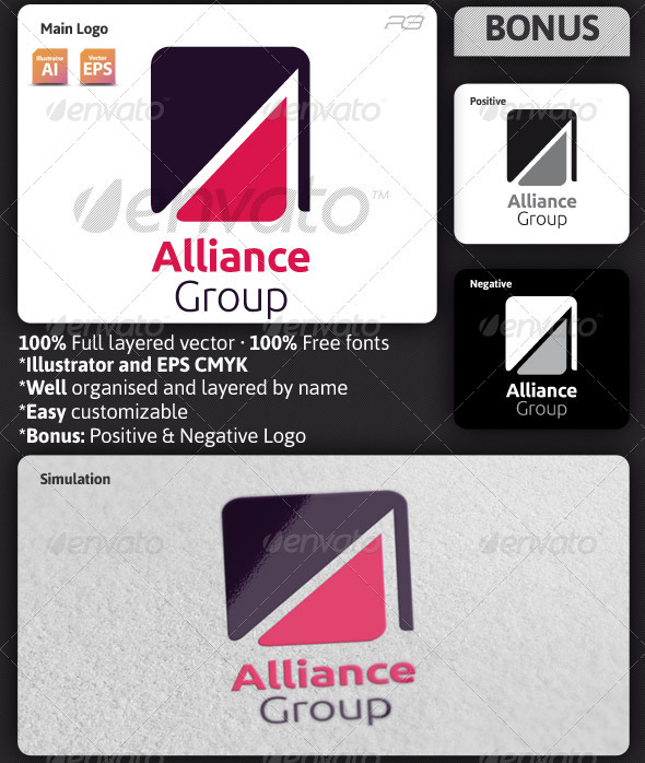 Alliance Group Logo Template - Letters Logo Templates