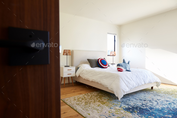 Interior Shot Of Modern Child's Bedroom In Empty House - Stock Photo - Images