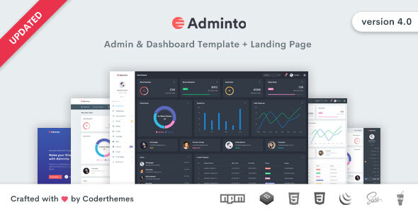 Adminto - Admin Dashboard Template