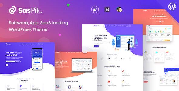 Download SasPik | Landing WordPress theme Free Nulled