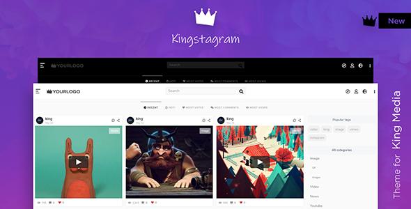 Download Kingstagram – King Media Viral Magazine Theme Free Nulled