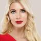 Beautiful woman face close up red lips lipstick studio - PhotoDune Item for Sale