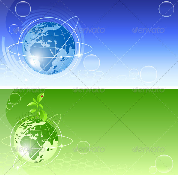 Vector Backgrounds with Globe - Backgrounds Decorative