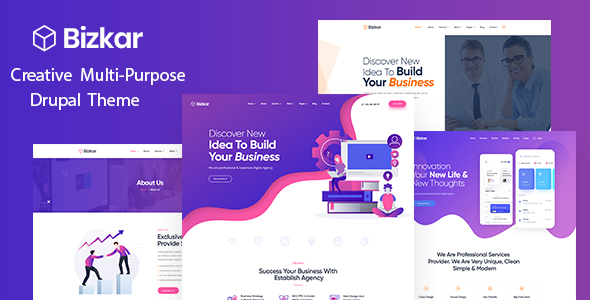 Bizkar – Creative Agency Drupal 8.8 Theme