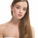 Fresh teen portrait view. Beautiful model woman perfect hair. Youth skin care concept - PhotoDune Item for Sale