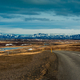 Nature background beautiful landscape mountains road hills clouds sunset Iceland - PhotoDune Item for Sale