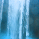 Waterfall wall water full two man near in Iceland - PhotoDune Item for Sale