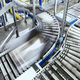 Modern conveyor system with box in motion - PhotoDune Item for Sale