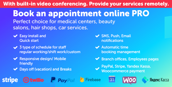 Download Book an appointment online PRO Free Nulled
