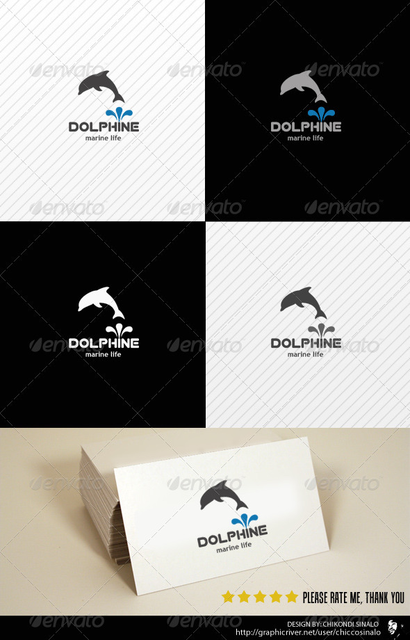 Dolphine Logo Template - Animals Logo Templates