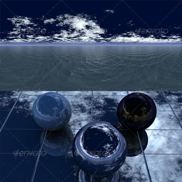 Night sea 4 - 3DOcean Item for Sale