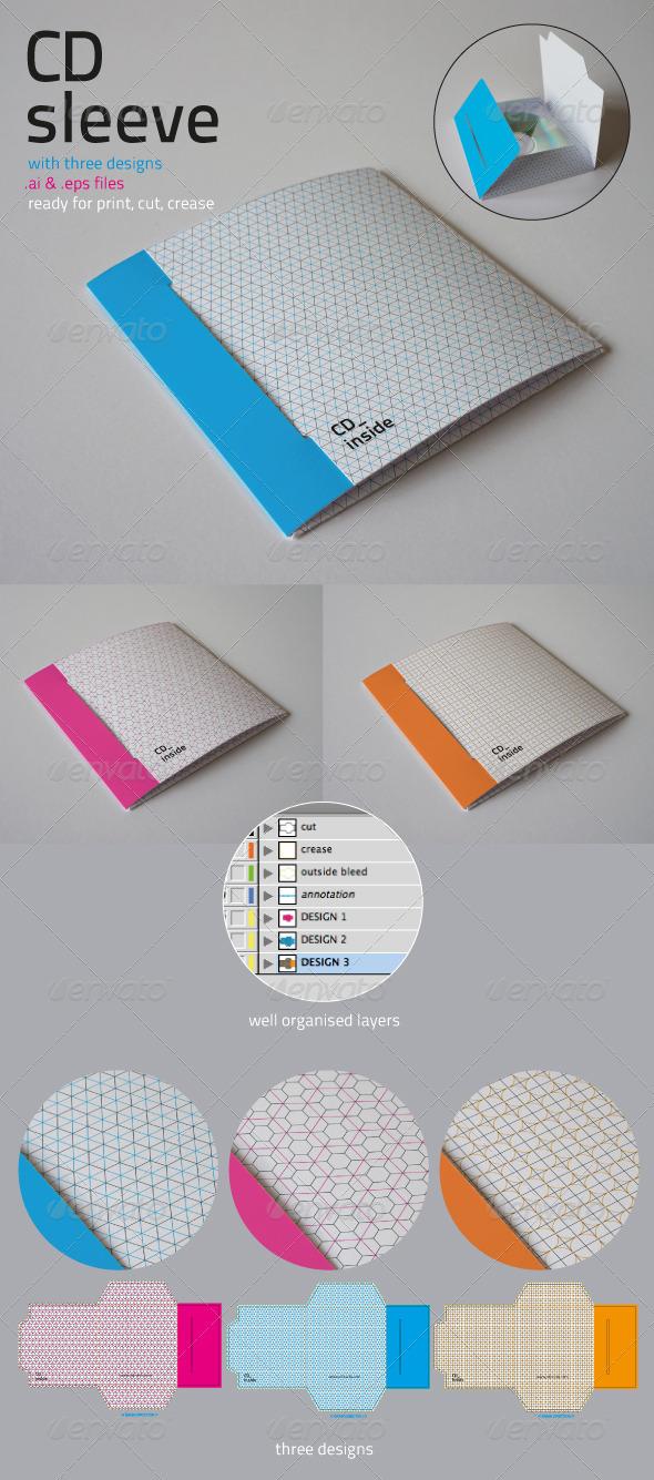 CD Sleeve - Packaging Print Templates