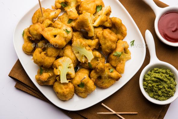 Cauliflower Fritter - Stock Photo - Images