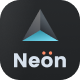 Neon - Neumorphic Mobile App Website Template