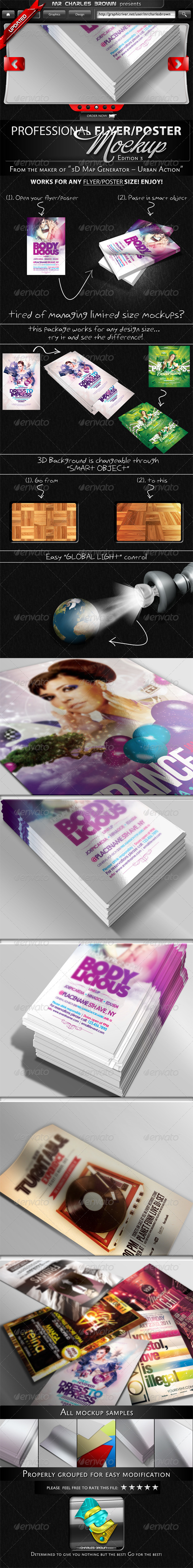 Professional Flyer & Poster Mockup Bundle 3 - Flyers Print