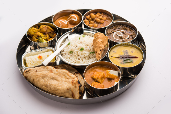 Indian Food Thali or Platter - Stock Photo - Images