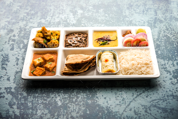 Indian Vegetarian Food Platter - Stock Photo - Images