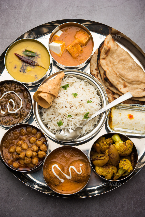 Indian Food Platter - Stock Photo - Images