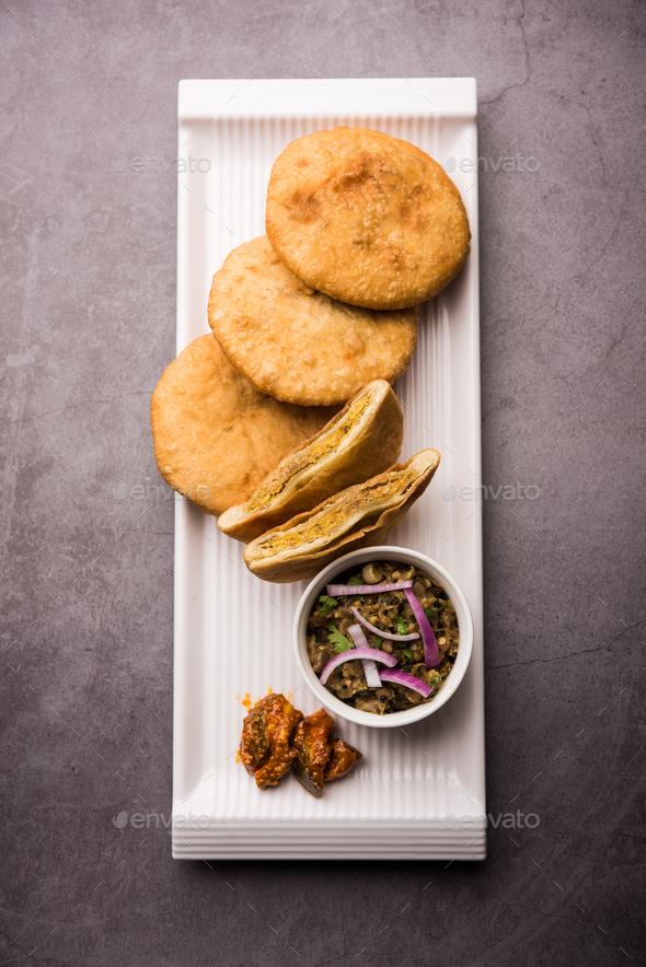 Fried Sattu Litti chokha - Stock Photo - Images