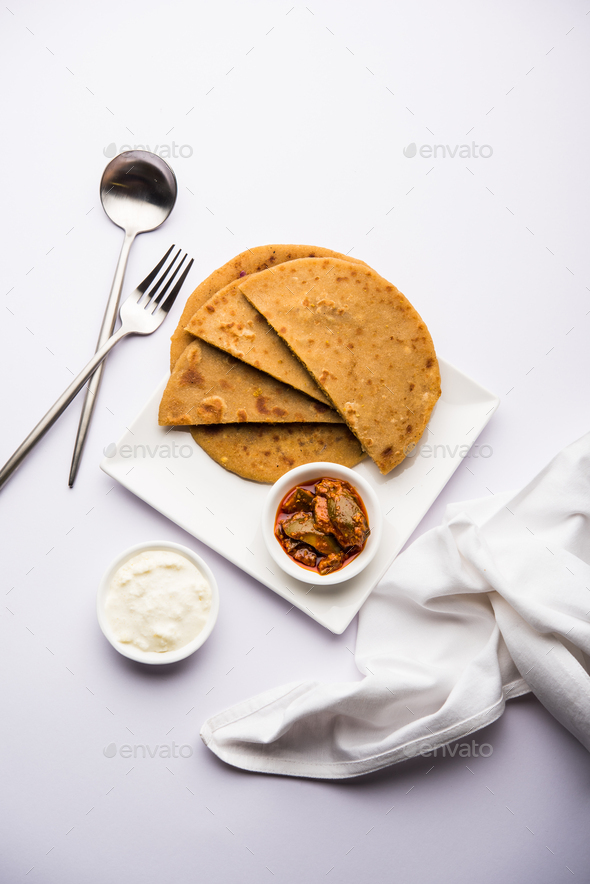 Aloo Paratha - Stock Photo - Images