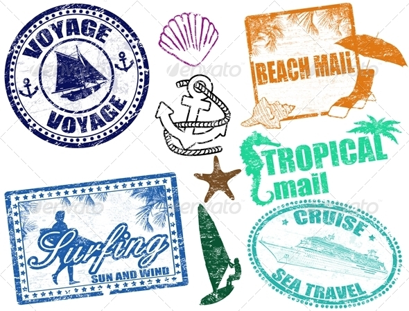 Summer stamps - Seasons/Holidays Conceptual
