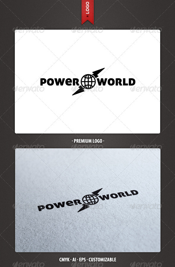 Power World Logo Template - Abstract Logo Templates