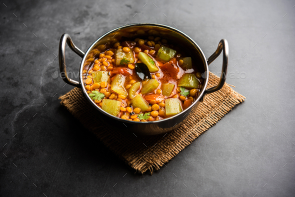 Bottle Gourd Gram Curry - Stock Photo - Images