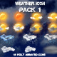 Weather Icons Pack 1 - VideoHive Item for Sale