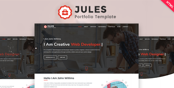 Jules Personal Portfolio Template By Nilpatel01 Themeforest