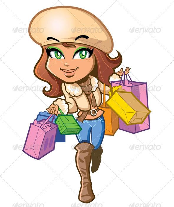 Shopping Girl - Characters Vectors
