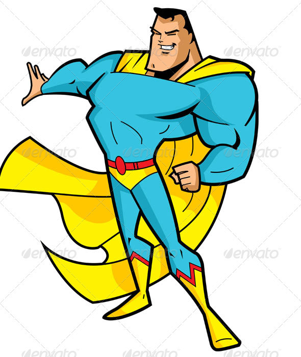 Big Chin Superhero - Characters Vectors