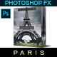 Famous City's / PARIS - Photoshop Action
