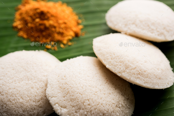 Podi idli is a quick and easy snack from South India - Stock Photo - Images