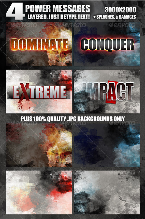 4 Dramatic Message screens - just re-type text - Miscellaneous Web Elements