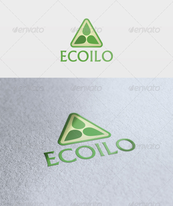 Eco Oil Logo - Vector Abstract