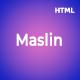 Maslin - Personal Portfolio HTML Template