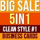 Fancy And Clean Business Cards Bundle - GraphicRiver Item for Sale