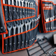 Showcase with wrenches kits in tool store closeup - PhotoDune Item for Sale