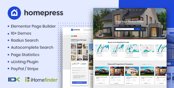 Download HomePress – Real Estate WordPress Theme Free Nulled