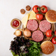 Homemade hamburger with fresh vegetables - PhotoDune Item for Sale