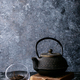 A teapot and a cup of tea - PhotoDune Item for Sale