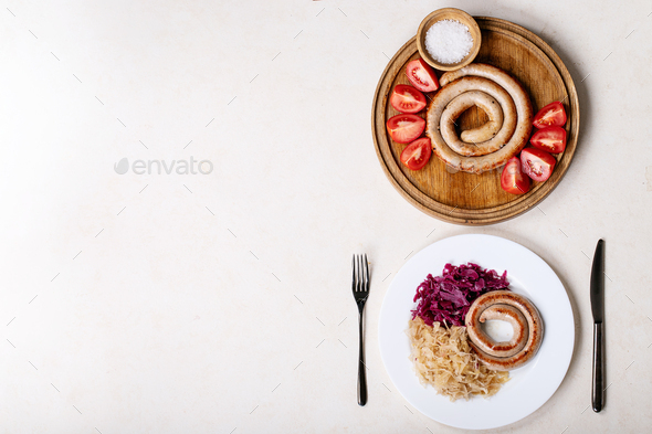 Snail sausage in traditional spiral - Stock Photo - Images