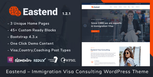 Download Eastend – Immigration Visa Consulting WordPress Theme Free Nulled