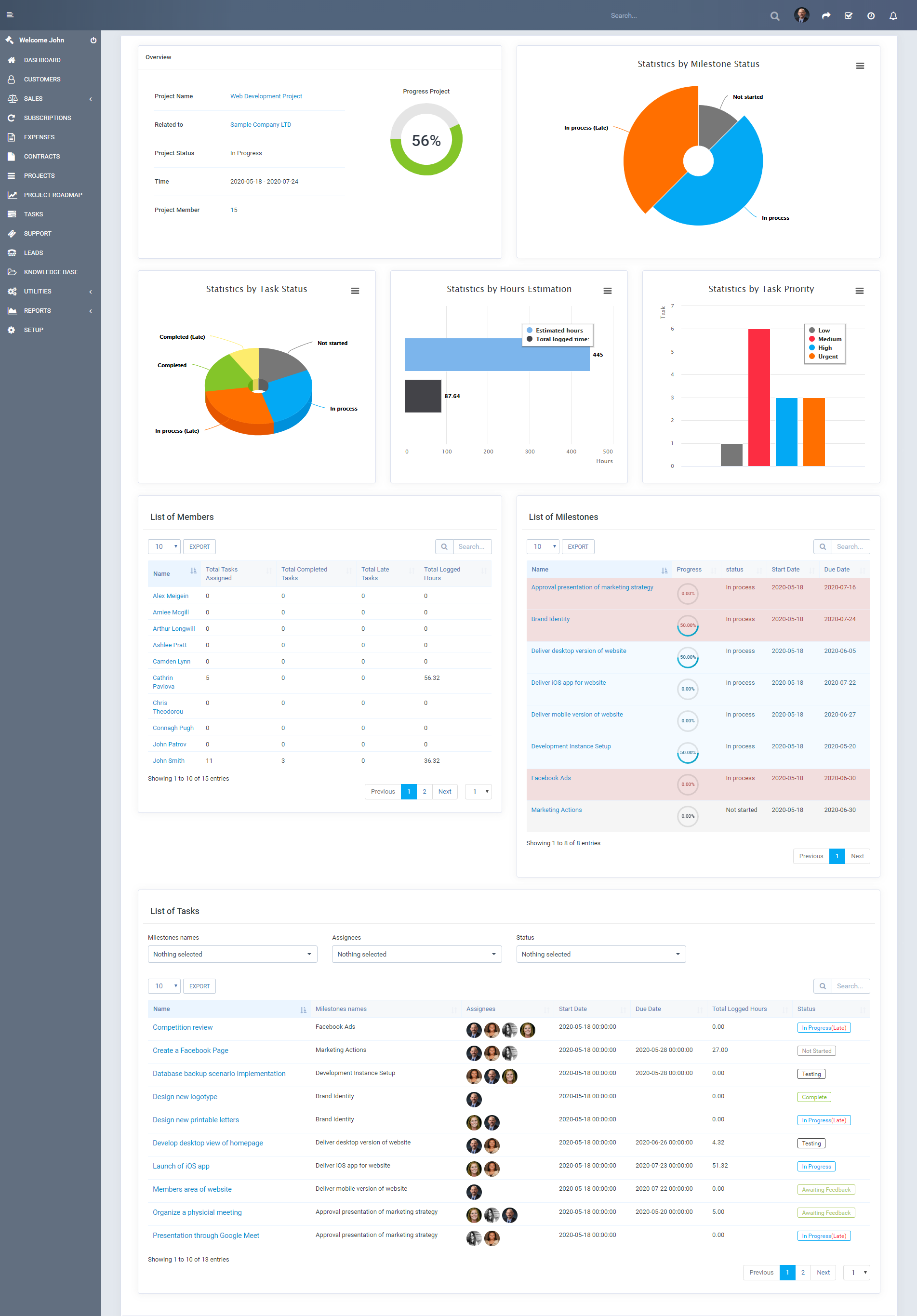 Project Roadmap - Advanced Reporting for Perfex CRM Projects - 2