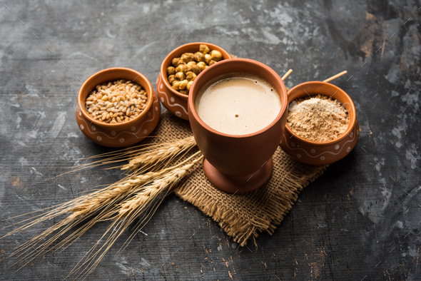 Sattu is a super drink from the Indian subcontinent - Stock Photo - Images