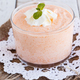 Pumpkin mousse,decorated with mint leaves and whipped cream - PhotoDune Item for Sale